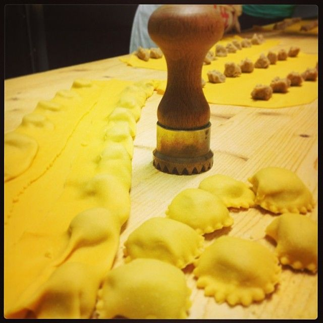 Making anolini - Instagram by trattorialamoretta