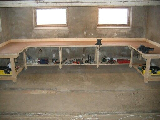 Heavy duty work bench DIY for the garage                                                                                                                                                                                 More                                                                                                                                                                                 More