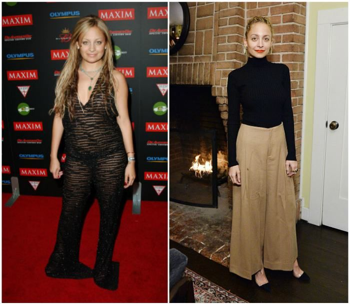Nicole Richie's before and after weight loss