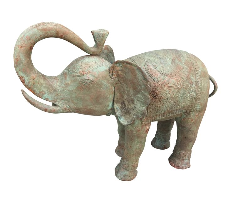 Buy Bronze elephant with patina by Nicole Sassaman - Limited Edition designer Accessories from Dering Hall's collection of Folk Art Traditional Decorative Objects.