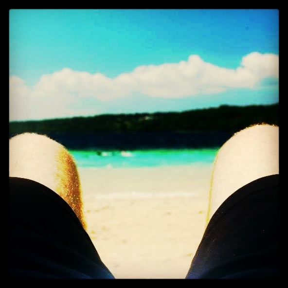 Sitting on the beach in Vanuatu