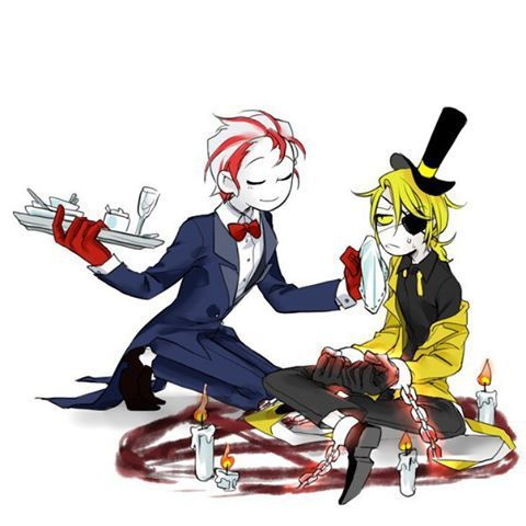 △ Gravity Falls- Bill Cipher and Peppermint Butler △ crossover Adventure Time                                                                                                                                                                                 Plus