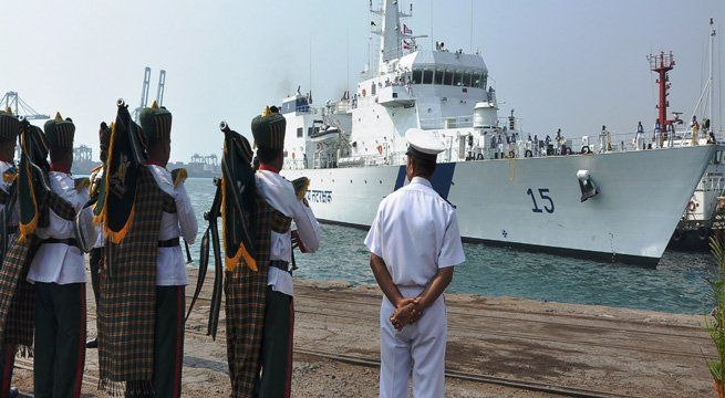 Vishakhapatnam: Indian Coast Guard Ship Shaunak, an offshore patrol vessel built by the Goa Shipyard arrived at her base port on Saturday. It was received by Commander Coast Guard (AP), DIG AK Harbola and senior officers from Coast Guard, an official release said. The ship is 105 meters in...