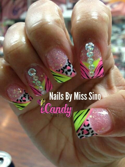 iCandy nails by miss sino ... Leopards and tigers