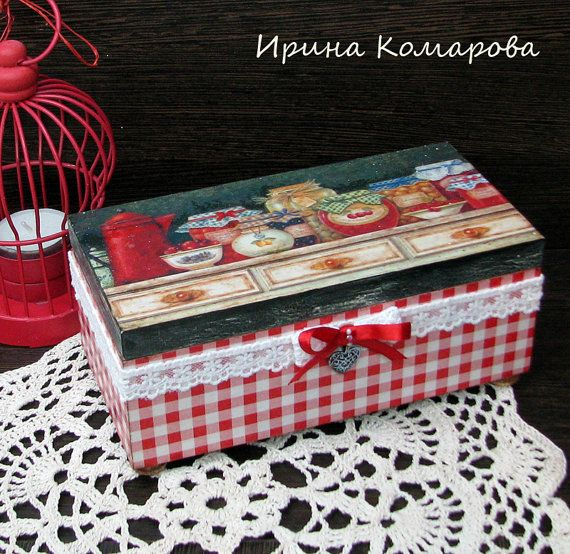The wooden casket The Grandmother's jam por MissDecoupage en Etsy