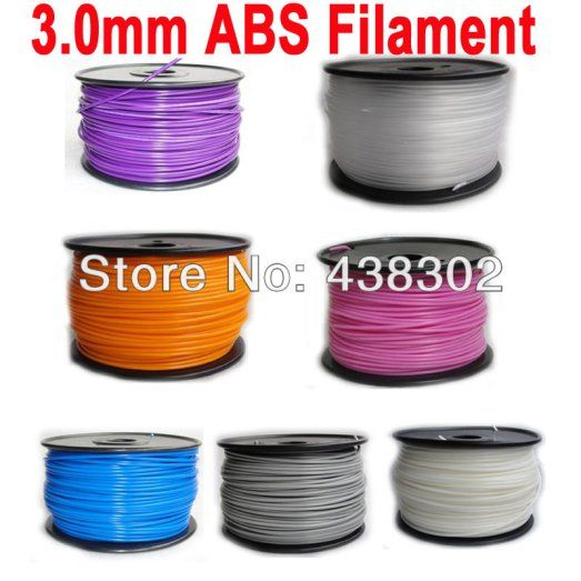 3.0mm ABS Filament with Spool 1kg for 3D Printer MakerBot, RepRap and UPFZ0616