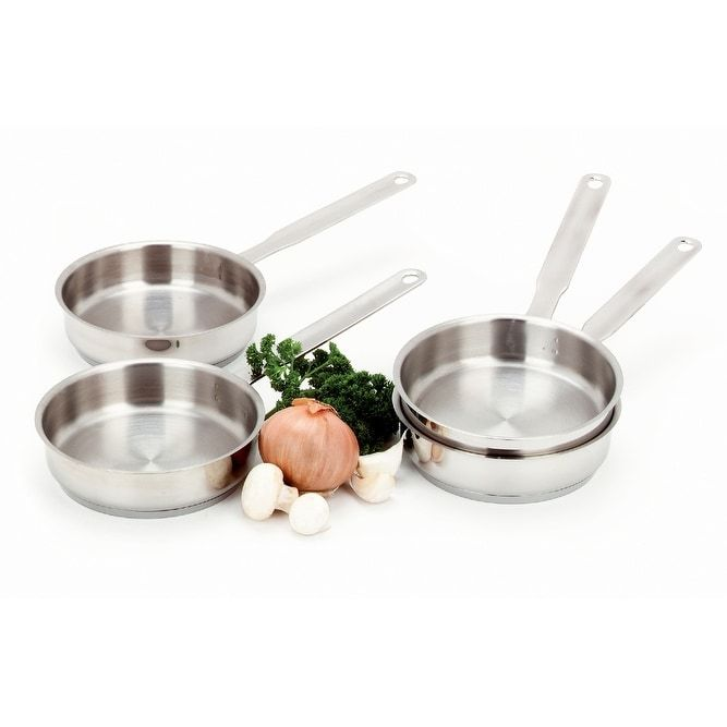 Demeyere Resto 4-pc Stainless Steel (Silver) Mini Fry Pan Set - Stainless Steel