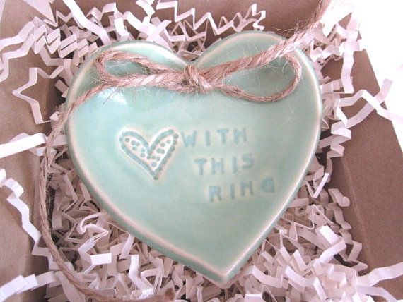 Mint green Wedding ring pillow With this Ring ring bearer dish Ring bearer & 26 best Wedding Ring Bearer images on Pinterest | Bowties ... pillowsntoast.com