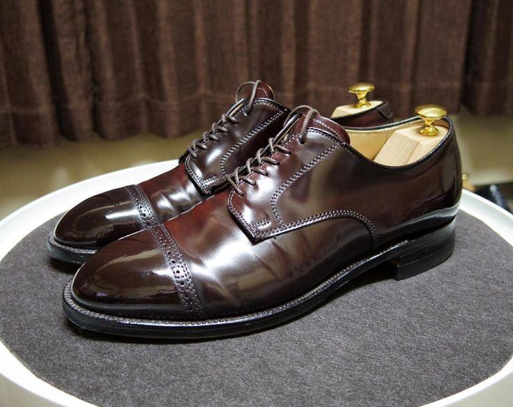 Alden 明日の靴踵磨きを追加しました #alden #shoes #mensshoes #shoecare #cordovan #オールデン #紳士靴 #革靴 #靴磨き #シューケア #コードバン