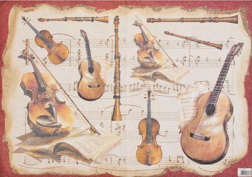 Carta decoupage, 48x33 cm, Musica, 1 pezzo