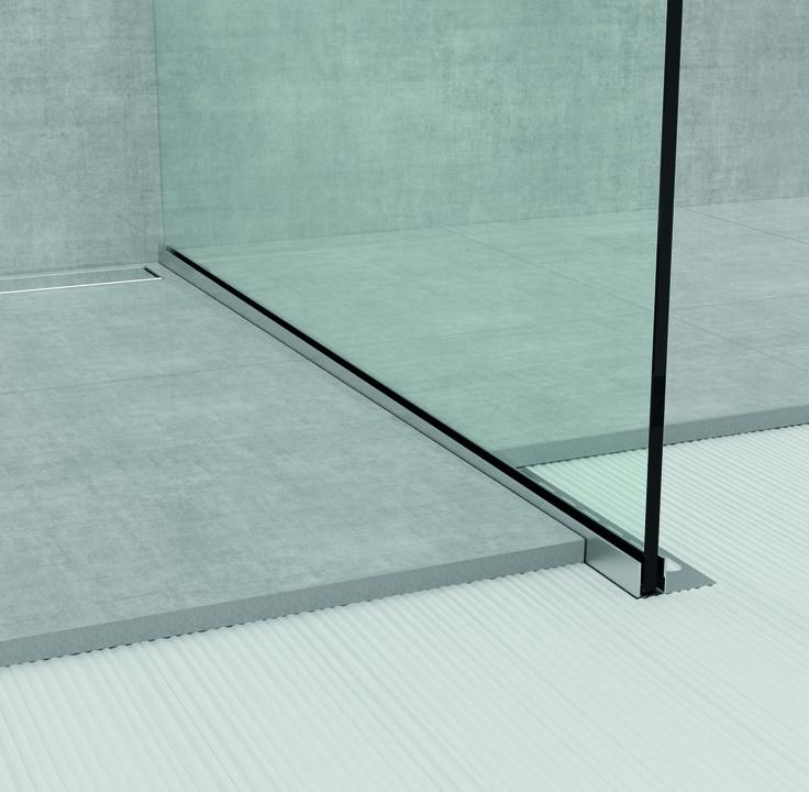Desiderate una #doccia a filo #pavimento in casa vostra? Date allora un'occhiata a Glass Profile, la linea di #profili box doccia in #acciaio inox di Profilpas che permette di risolvere i problemi di posa delle pavimentazioni con pendenza!