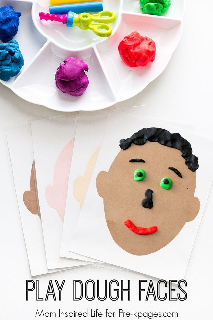 Play Dough Faces Activity for preschool
