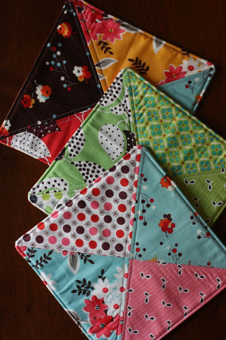 White pot holders for crafts - Quilted Potholder Gift Set Of Three In Flea By Lizellenhandmade