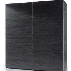 Napoli Black Wooden Sliding Wardrobe - Bedroom Furniture