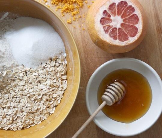 grapefruit+honey+oat scone recipe