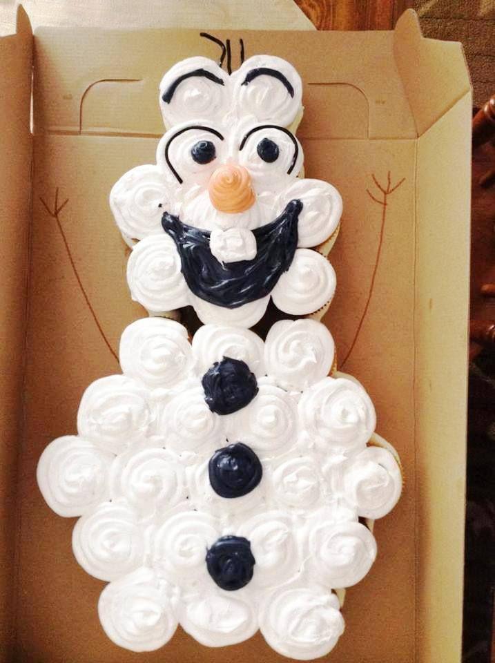 Disney Frozens Olaf Pull Apart Cupcake Cake