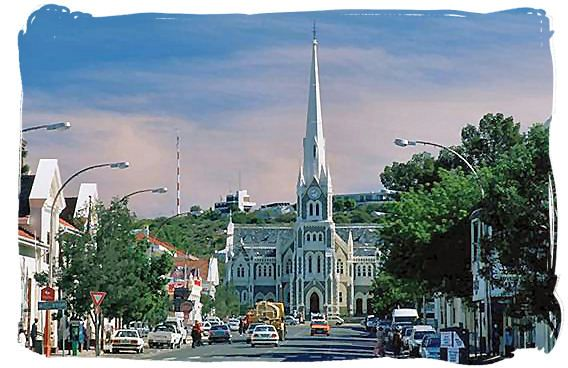 The Dutch Reformed Church in the centre of Graaff-Reinet - The prettiest church in South Africa For more information see www.camdeboocottages.co.za