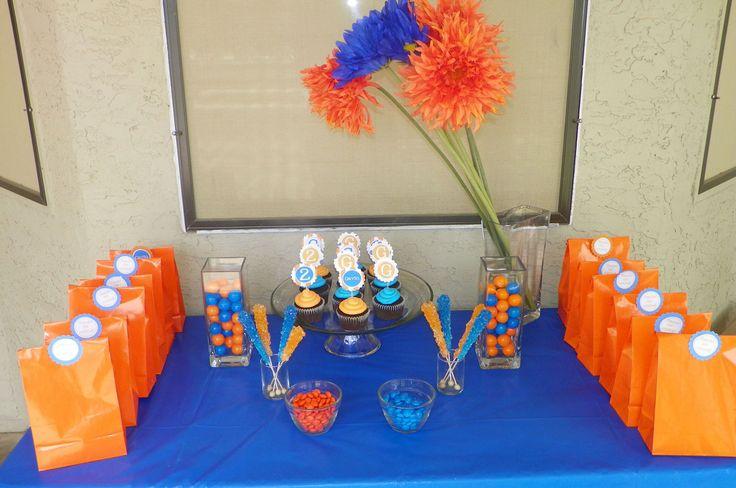 orange & blue party supplies | Blue & Orange Birthday Party - Around My Family Table