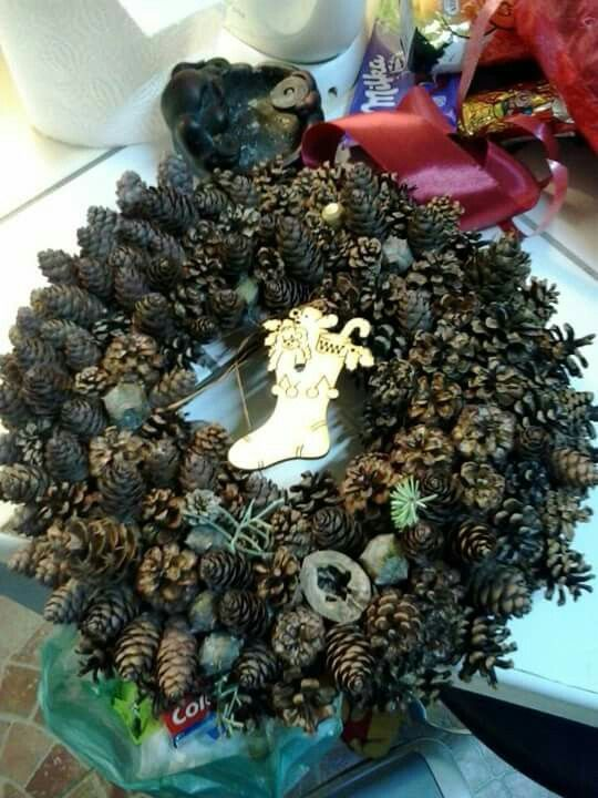 pine-cone wreath