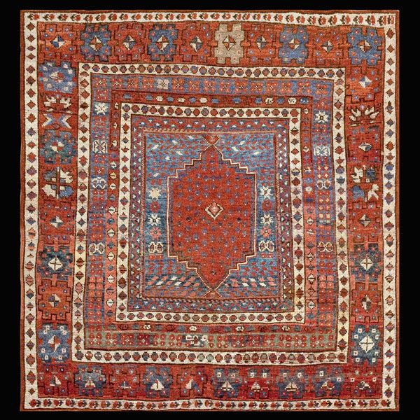 Melas Rug - 40-1494 | Turkish Village 4' 3'' x 4' 3'' | Other, Origin Turkey…