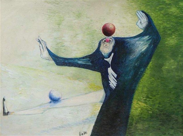 František Tichý - Clown #painting  #art #Czechia