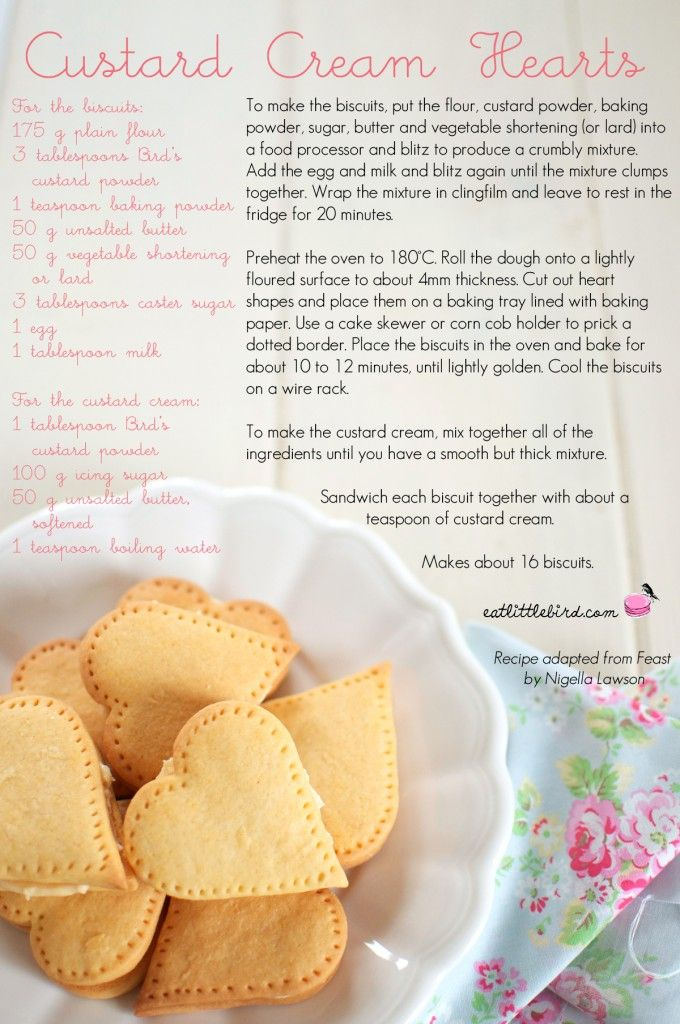 Custard Cream Hearts. Recipe by Nigella Lawson