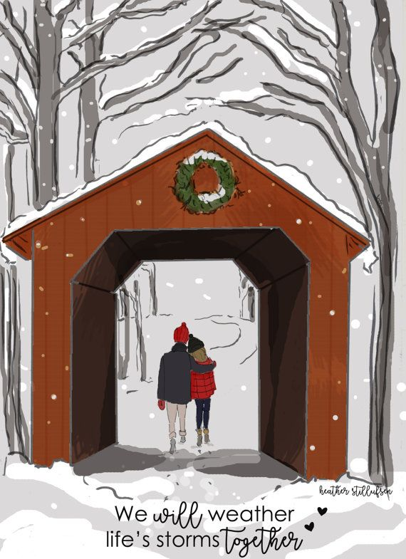 Weather Together Winter Art Covered by RoseHillDesignStudio
