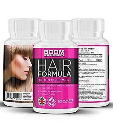 Biotina Crecimiento Del Pelo Vitaminas 10,000mcg | # 1 tabletas de crecimiento del pelo | Max Strength Biotin Productos para el cabello | 120 espesantes para el cabello | FULL 4 meses de suministro | Ayuda a crecer el pelo para las mujeres | Lograr más grueso, pelo más lleno FAST | Seguro y eficaz | Pastillas para el crecimiento del cabello | Fabricado en el Reino Unido! | Resultados Garantizados | 30 días de garantía de devolución de dinero
