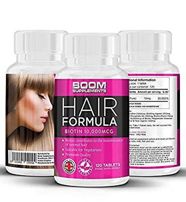 Biotina Crecimiento Del Pelo Vitaminas 10,000mcg   # 1 tabletas de crecimiento del pelo   Max Strength Biotin Productos para el cabello   120 espesantes para el cabello   FULL 4 meses de suministro   Ayuda a crecer el pelo para las mujeres   Lograr más grueso, pelo más lleno FAST   Seguro y eficaz   Pastillas para el crecimiento del cabello   Fabricado en el Reino Unido!   Resultados Garantizados   30 días de garantía de devolución de dinero