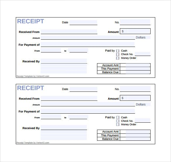 Cash Receipt Templates 21 Free Printable Xlsx And Docs Formats Receipt Template Invoice Template Invoice Sample