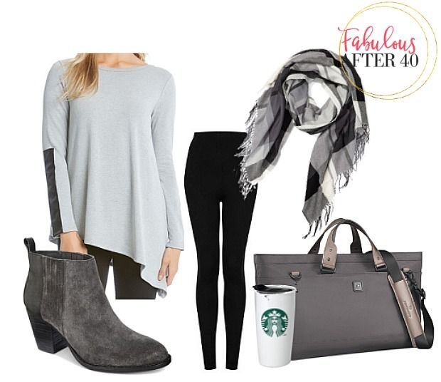 Comfy Leggings Outfits to Wear on a Long Flight