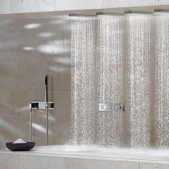 Horizontal Shower _ by German company Dornbracht _