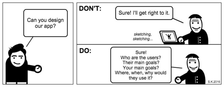 The do's and don'ts for UX people part 2: Starting a design project #PerjantaiSarjis #UX @satu