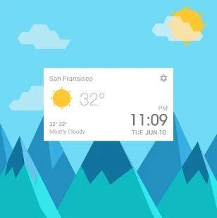 Lollipop Style Weather Widget - screenshot thumbnail