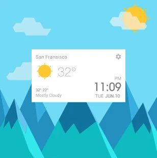 Lollipop Style Weather Widget - screenshot thumbnail