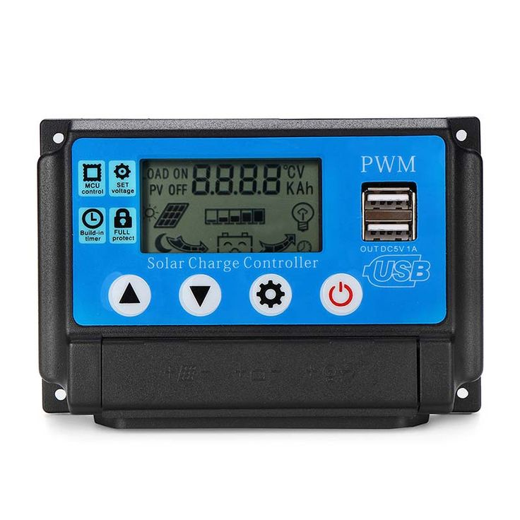 Solar Panel Controller Battery Charge Regulator 12V/24V Auto With
