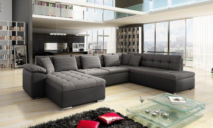 Corner sofa :)  http://www.mirjan24.pl/narozniki-pokojowe/5323-naroznik-tony-bis-z-pojemnikiem-5900101819531.html #narożnik #cornersofa #salon #livingroom
