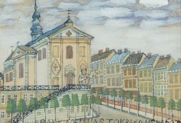 Nikifor Krynicki - Biskup przed kościołem