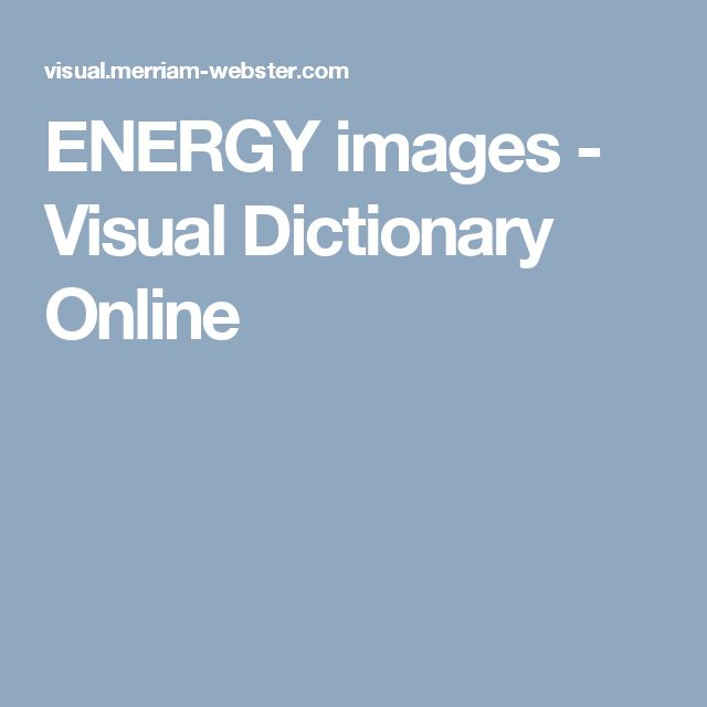 ENERGY images - Visual Dictionary Online