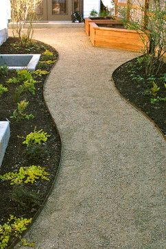 Decomposed granite paths, steel edging. - contemporary - landscape ...