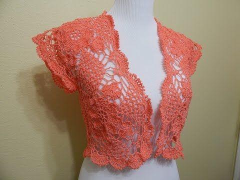 ▶ Bolero Primavera Crochet parte 2 de 2 - YouTube