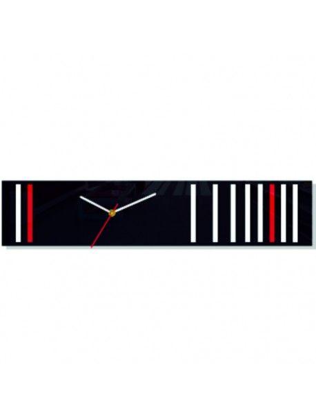 Nástěnné hodiny reflex. Barva bílá-černá-červená. Rozměr 12 x 56 cm Kód:  FL-Z40-1BLACK-WHITE-RED-WAR1 Stav:  Nový produkt  Dostupnost:  Skladem  Přišel čas na změnu! Dekorační hodinky oživí každý interiér, zvýrazní šarm a styl Vašeho prostoru. Zůtulní realít s novými hodinami. Nástěnné hodiny z plexiskla jsou nádhernou dekorací Vašeho interiéru.