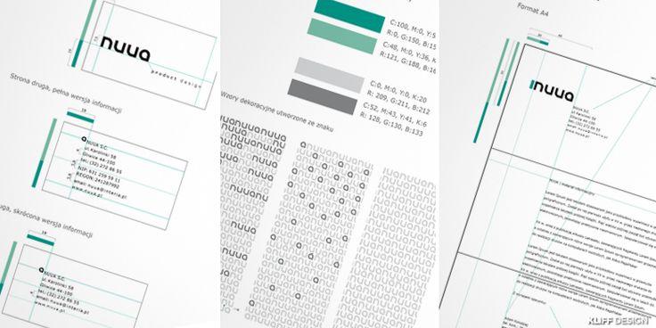NUUA   Księga znaku, projekt wizytówki i papieru firmowego