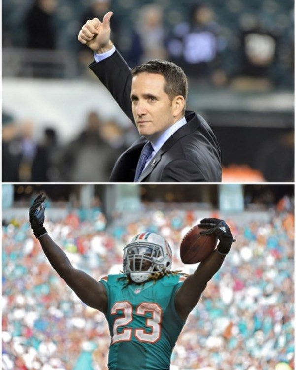 """Howie Roseman on crowded backfield: """"LeGarrette's been productive when he's gotten the ball. He's a warrior and he's a two-time Super Bowl champion and we're really glad to have him. I really shouldn't get into starter roles that's really up to the coaches but we're counting on LeGarrette here going forward. This is no reflection of any of those running backs this was a good opportunity for the Philadelphia Eagles to add good players who fit what we do and we believe that Jay Ajayi does…"""