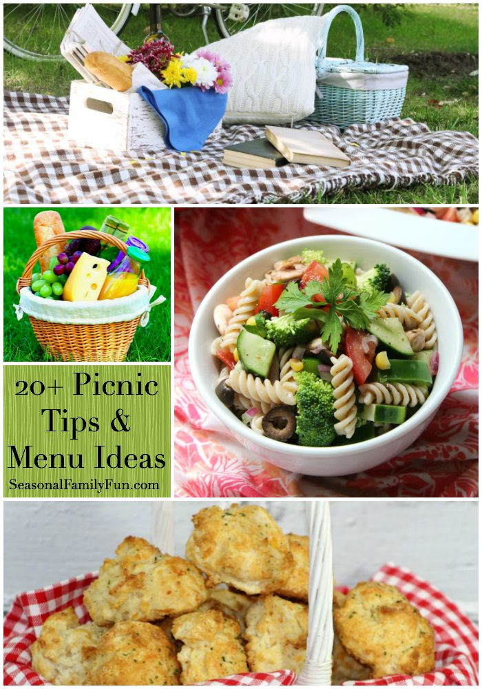 20+ Picnic Tips + Menu Ideas #picnictips #picnicideas #picnicfood #picnichacks