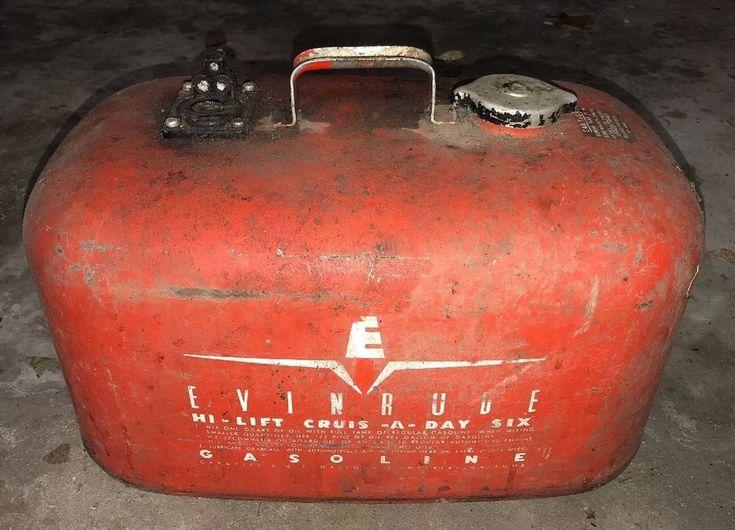Evinrude 6 gallon cruise a day metal outboard motor fuel