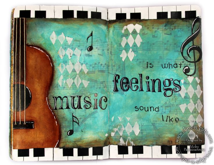 Art Journal layout: Music (Clips-n-Cuts » Art Journal)