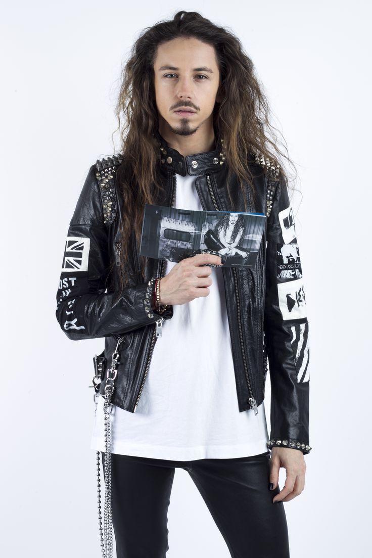 polish singer Michał Szpak is wearing Diesel Black Gold on his record's cover, pr Anna Fludra
