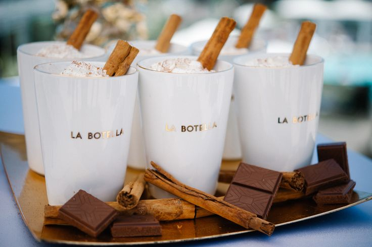 Mexican hot cocoa. As seen in Exquisite Weddings Magazine. www.takenotecreations.com