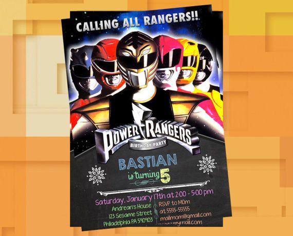 Power Ranger Mighty Morphin Invitation,Power Ranger Mighty Morphin Birthday,Power Rangers Invitation,Power Rangres Party,Power Ranger Invite